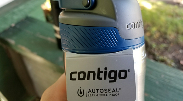 Holding contigo water Bottle autoseal chill