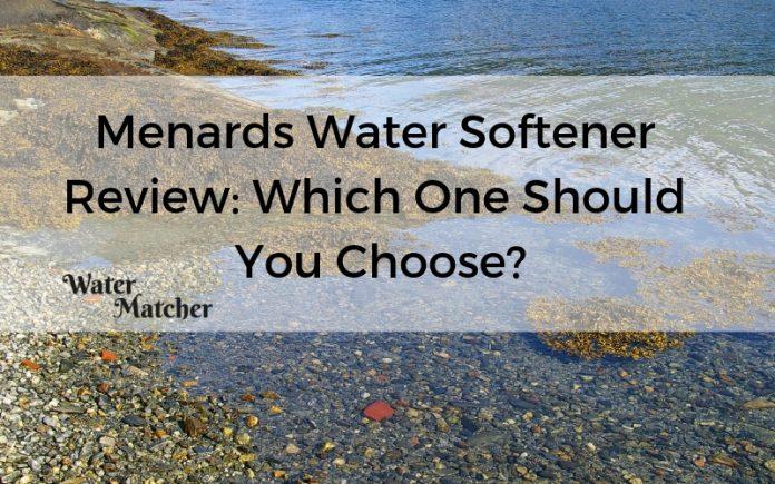 Menards Water Softener Review