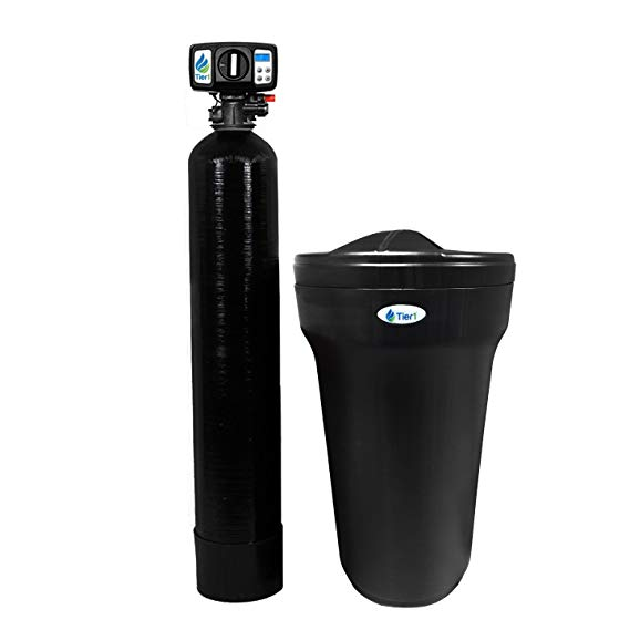 Tier1 48,000 Grain High Efficiency Digital Water Softener for Hard Water